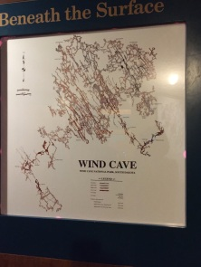 Map of the cave system